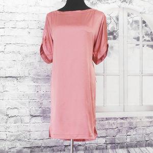 DvF Silk Satin Shift Slip Kara Dress 10 Salmon